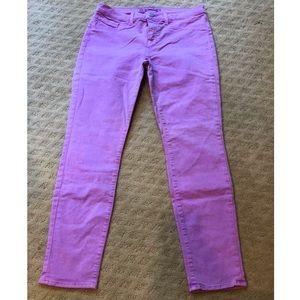 J Brand Mid-Rise Skinny in Neon Purple